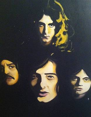 Painting - Led Zeppelin by Matt Burke