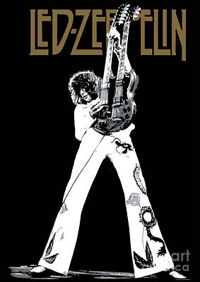 Guitar Player Digital Art - Led Zeppelin No.06 by Fine Artist