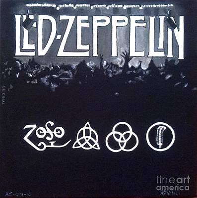 Led Zeppelin Original by Richard John Holden RA