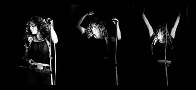 Photograph - Led Zeppelin Robert Plant Triptych by Chris Walter