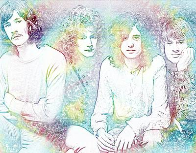 Led Zeppelin Tie Dye Art Print by Dan Sproul