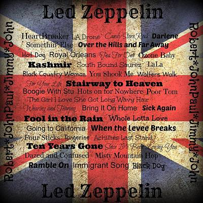 Led Zeppelin Art Print by Treesha Duncan