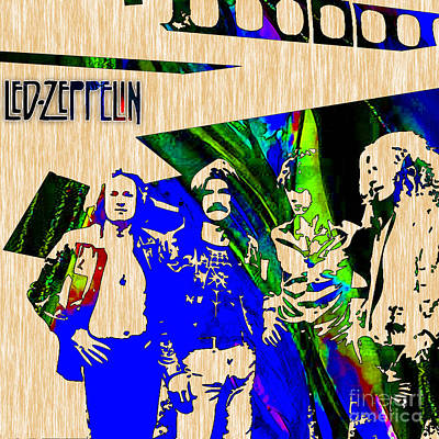 Led Zeppelin Mixed Media - Led Zeppelin Wall Art by Marvin Blaine