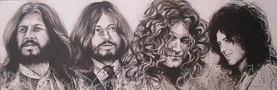 Led Zepplin Art Print by Bruce McLachlan