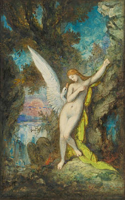 Leda And The Swan Painting - Leda And The Swan by Gustave Moreau