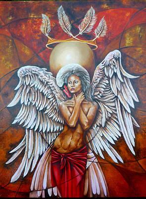 Zeus Painting - Leda by Didier Albo