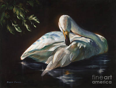 Painting - Leda's Swan by Charice Cooper