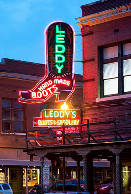 Photograph - Leddy Hand Made Boots 031315 by Rospotte Photography