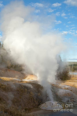 Photograph - Ledge Geyser In Norris Geyser Basin by Fred Stearns