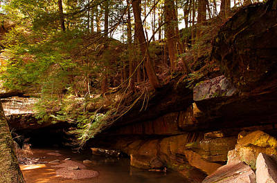 Photograph - Ledges Of Cedar Falls by Haren Images- Kriss Haren
