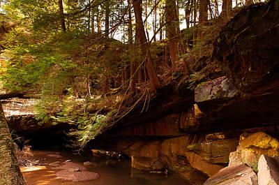 Photograph - Ledges Of Cedar Falls by Haren Images- Kriss Haren