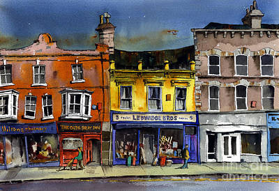 Mixed Media - Ledwidges One Stop Shop Bray by Val Byrne