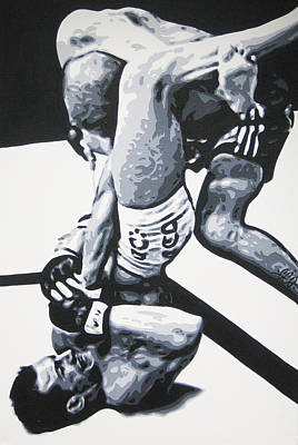 Painting - Lee Murray Vs Jorge Rivera by Geo Thomson