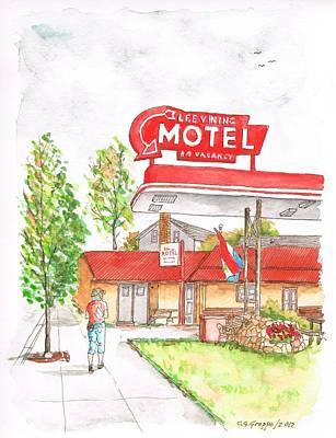 Edificios Painting - Lee Vining Motel In Lee Vining - California by Carlos G Groppa