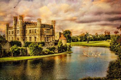 Leeds Castle Landscape Art Print
