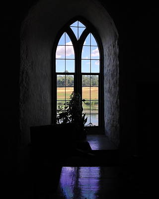 Leeds Castle Window Art Print