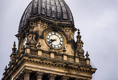 Photograph - Leeds Town Hall Clock Tower by Pablo Lopez