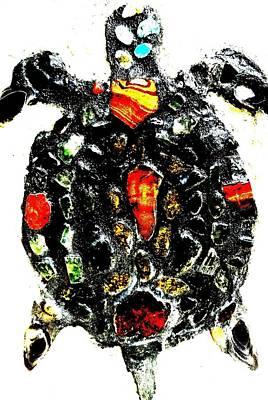 Leeky Turtle Print by Lisa Brandel
