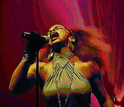 Leela James Print by  Fli Art