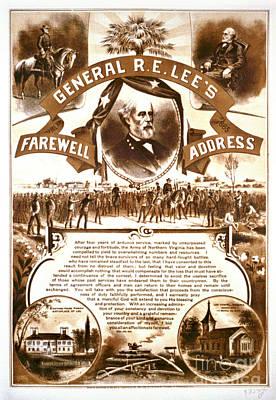 Lee's Farewell Address 1865 Art Print by Padre Art