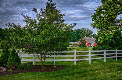 Photograph - Leesburg Rd Barn Hdr by Gene Sherrill