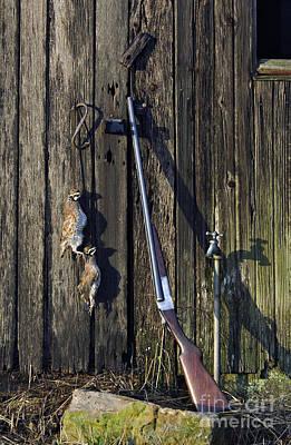 Bobwhite Quail Photograph - Lefever Nitro Special 20 Gauge - D002371 by Daniel Dempster