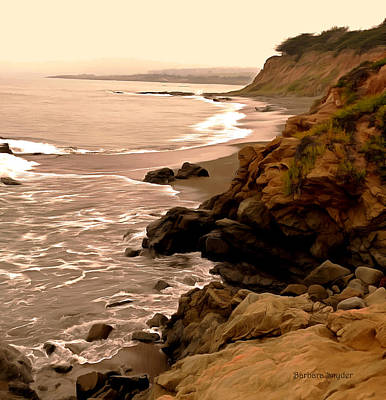 Pacific Coast Highway Painting - Leffingwell Landing Cambria Detail by Barbara Snyder