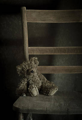 Sitting Bear Photograph - Left Behind by Amy Weiss