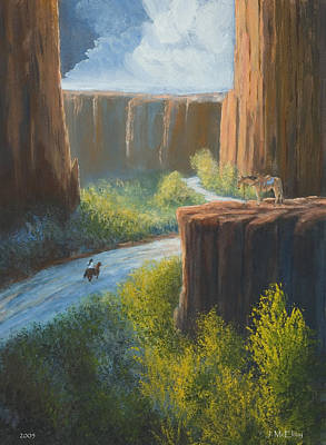 Southwest Art Painting - Left Behind by Jerry McElroy
