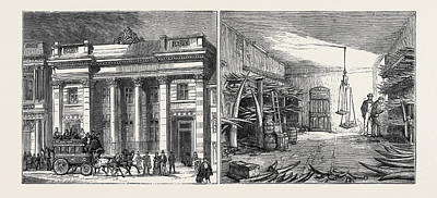 Left Image The Cutlers Hall Art Print by English School