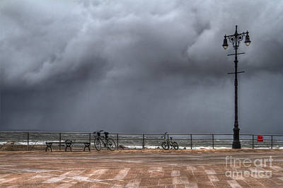 Coney Island Photograph - Left In The Power Of The Storm by Evelina Kremsdorf