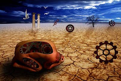 Left Me By Desert Print by Mark Ashkenazi