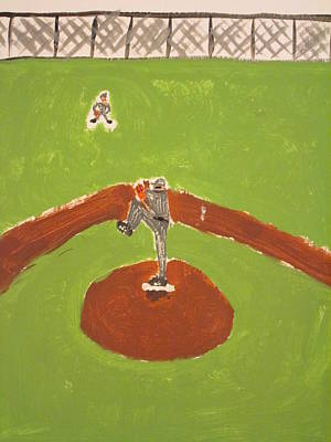 Cracker Jacks Painting - Left Of Center by Altruiste Cravens