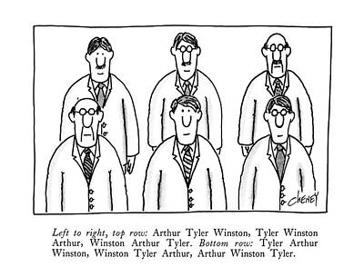 Rights Of Man Drawing - Left To Right by Tom Cheney