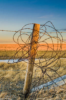 Photograph - Leftover Fence by Dwayne Schnell