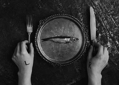 Cutlery Wall Art - Photograph - Left&right by Aleksandrova Karina