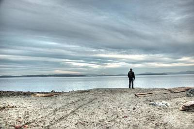 Vancouver Island Photograph - Leftward Gaze by Dorothy Hilde