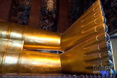 Photograph - Leg Of Reclining Buddha by Yew Kwang