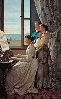 Lega Silvestro, The Folk Song, 1867 Art Print by Everett