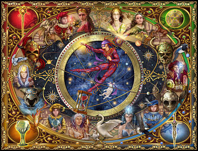 Pegasus Wall Art - Digital Art - Legacy Of The Divine Tarot by Ciro Marchetti