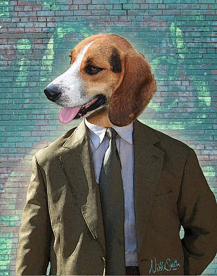 Digital Art - Legal Beagle by Nikki Smith