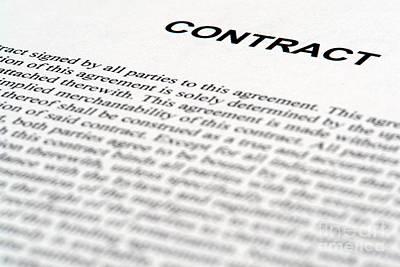 Legal Contract Art Print