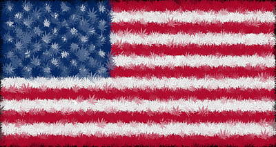 Weed Digital Art - Legalize This Flag by Ron Hedges