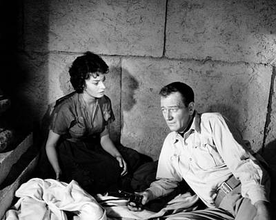 1957 Movies Photograph - Legend Of The Lost, From Left, Sophia by Everett