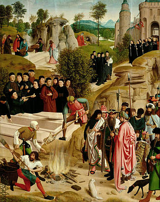 Baptist Painting - Legend Of The Relics Of St John The Baptist by Geertgen tot Sint Jans