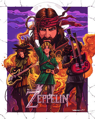 Zoso Digital Art - Legend Of Zeppelin by Dwayne Bateman