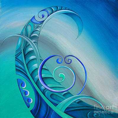 Maori Painting - Legend By Reina Cottier by Reina Cottier