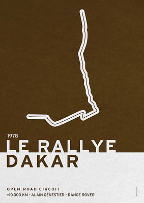 Track Digital Art - Legendary Races - 1978 Le Rallye Dakar by Chungkong Art