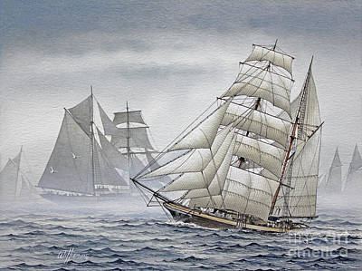 Legendary Yachts Art Print by James Williamson