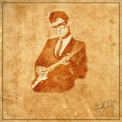 Buddy Holly Photograph - Legends 9 by Andrew Fare